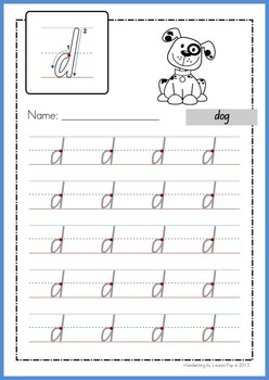 NSW FOUNDATION HANDWRITING ALPHABET TRACING LETTERS CLIPART- MINI SET