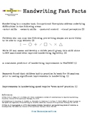 Handwriting Fast Facts for Parents