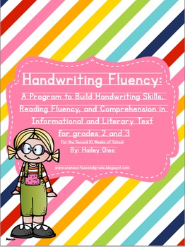 Handwriting Fluency: Common Core Based Literacy Skills for Grades 2-3 The Bundle