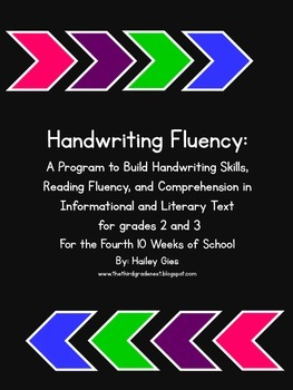 Handwriting Fluency: Common Core Based Literacy Skills for Grades 2-3 part 4