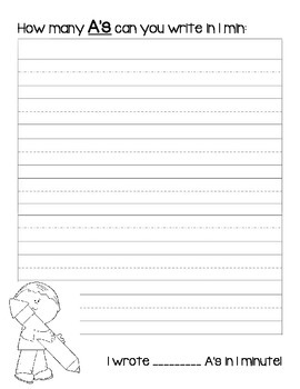 Handwriting Fluency Pages (Alphabet Writing)
