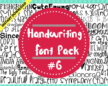 Handwriting Font Pack #6 .TTF - 40 Styles, 40 total fonts