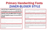 Handwriting Font Packages - Similar to Zaner-Bloser