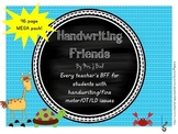 Handwriting Friends 46 page MEGA PACK
