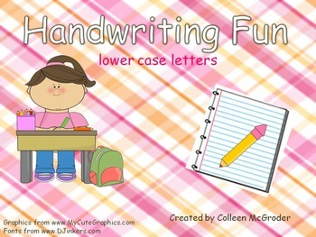Handwriting Lower Case Practice