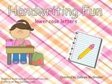 Handwriting Lower Case Practice