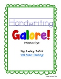 Handwriting Galore-D'Nealian