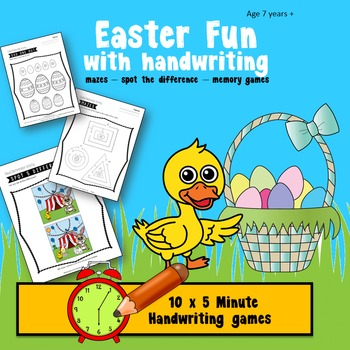 Handwriting Games - Easter Fun, Grades 1 to 6
