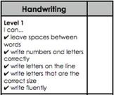 Handwriting Goal/Tick Chart (Leveled)