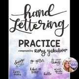 Handwriting - Hand Lettering Practice Book - Lowercase Letters and Word Samples!