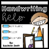 Handwriting Help with Student Self-Rubric