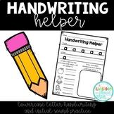 Handwriting Helper: Lowercase Letters {*NO PREP* Lowercase Handwriting Sheets}
