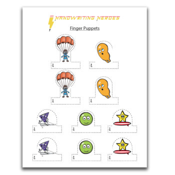 Handwriting Heroes Finger Puppets