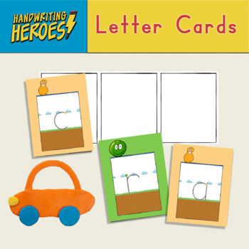 Handwriting Heroes Letter Cards