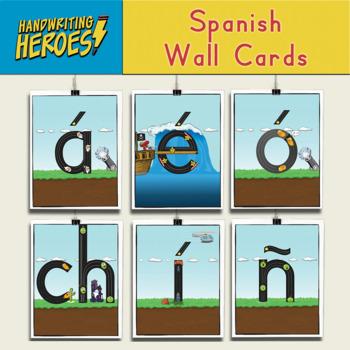 Handwriting Heroes Spanish Wall Cards Add-On