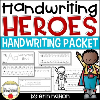 Handwriting Heroes {mini books and activity sheets to celebrate good penmanship}