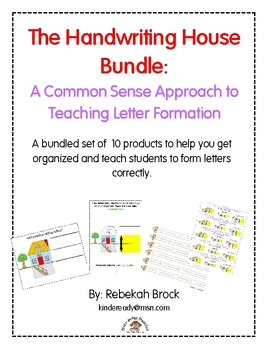 Handwriting House Bundle: A Common Sense Approach to Teach Letter Formation