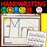 Handwriting House for Letter Placement - Upstairs, Downstairs, Basement