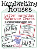 Handwriting Houses Reference Charts for Traditional Printing