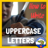 Handwriting - How to Write Upper Case Letters Animated PowerPoint