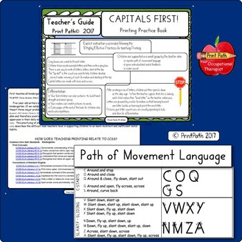 HANDWRITING Begins Here ~ Capitals First! ~ Explicit Instruction Uppercase