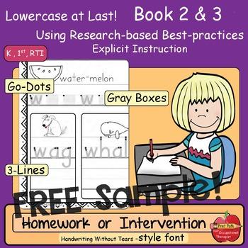 Lowercase Intervention or Homework Practice Bundle: FREE SAMPLE
