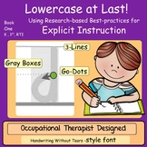Teach Handwriting Explicit Instruction ~ Handwriting Without Tears STYLE FONT