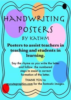 Handwriting Instructional Rhymes