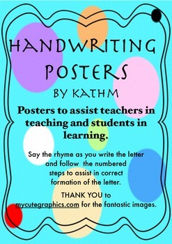 Handwriting Instructional Rhymes