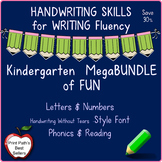 Handwriting Bundle - Kindergarten Letters & Numbers