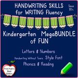 Handwriting Bundle - Kindergarten Letters & Numbers