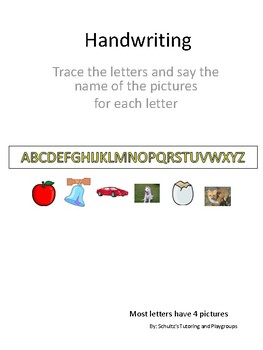 Handwriting - Large  uppercase letters to trace.