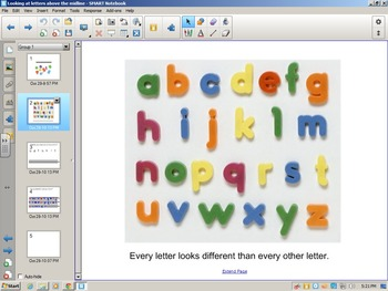Handwriting Lesson for letters above the midline