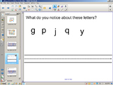 Handwriting Lesson for letters below the baseline