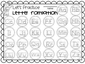 Handwriting ~ Letter Formation FREEBIE!