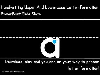 Handwriting Letter Formation Slide Show! Editable