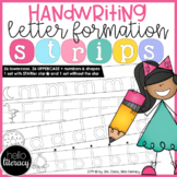 Handwriting Letter Formation Strips