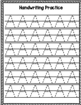 Letter Formation Worksheets For Kindergarten