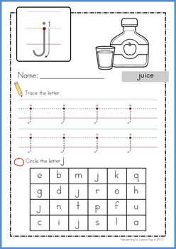 Handwriting - Letter Identification {Lowercase Letters}