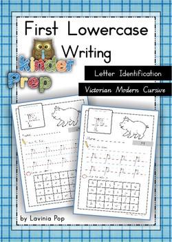 Handwriting - Letter Identification {Lowercase Letters}  Vic. Cursive font