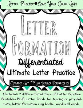 Handwriting Letter Practice - Letter Formation Focus