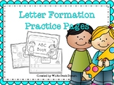 Handwriting Practice Letter Pages