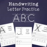 Handwriting Letter Practice - Uppercase