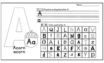 Handwriting & Letter Recognition Activity