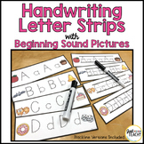 Handwriting Letter Strips with Beginning Sound Pictures