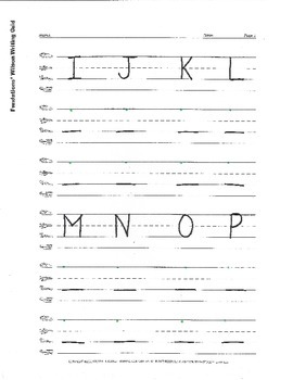 Handwriting: Letters A-Z