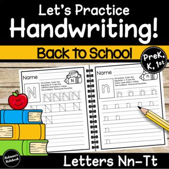 Handwriting Letters N-T