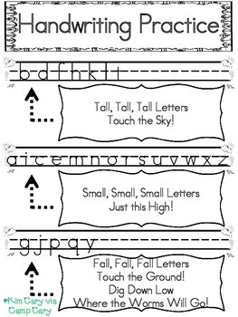 Handwriting Letters and Pictures