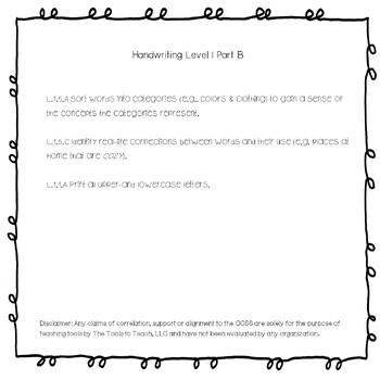 Handwriting Level 1 Part B