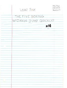 Handwriting Levels